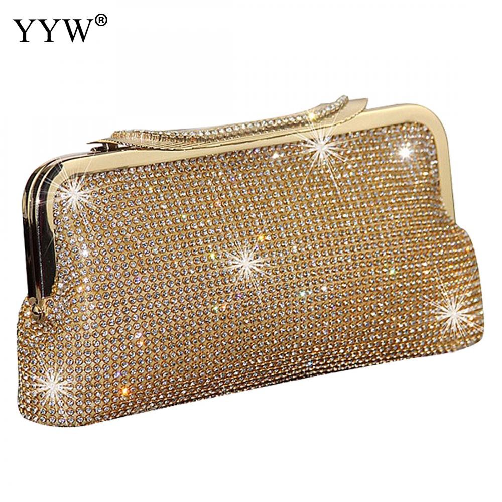 2019 Women Evening Clutch Bag Diamond Clutch Female Silver Day Clutch Wedding Purse Party Banquet Black/Gold Bolsas Mujer