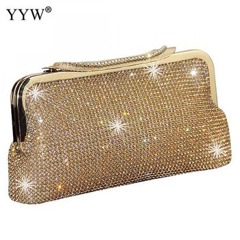 Women Evening Clutch Bag Diamond Clutch Female Silver Day Clutch Wedding Purse Party Banquet Black/Gold Bolsas Mujer 2019 new soft diamond silver chain woman evening bag women rhinestone crystal day clutch lady wallet wedding purse party banquet
