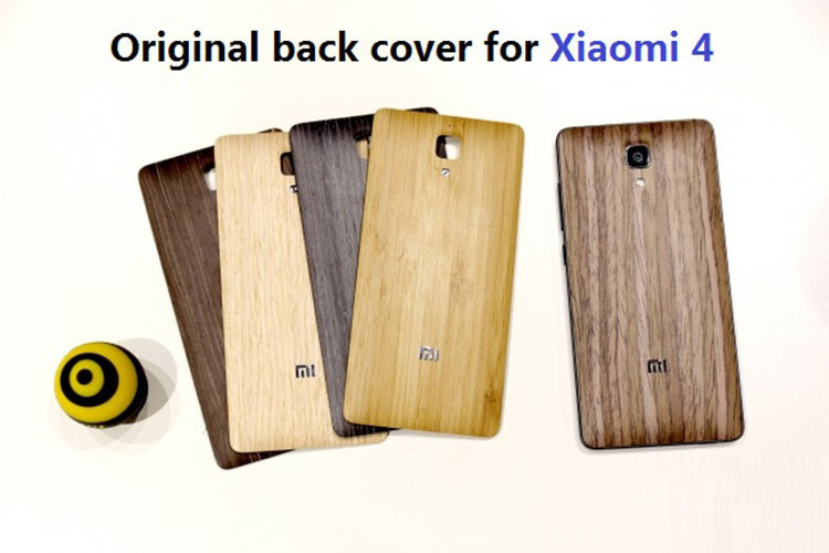 mi4 m4 original wood battery back cover xiaomi 4g solid 100% 5' phone case+1screen protector - Shenzhen Zomi Technology Co., Ltd. store