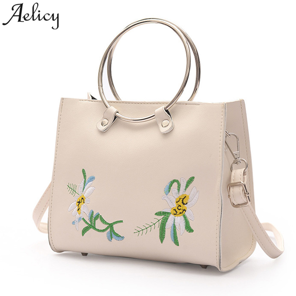 Dinosaur Walking The Flowers Womens Leather Handbag Shoulder Bag Satchel Handbags Leather Tote Purse Women Handle Handbags