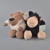 2 adet 25 cm nici siyah koyunları ve beyaz kurt peluş oyuncak, bebek Çocuk Bebek Hediye Ücretsiz Kargo