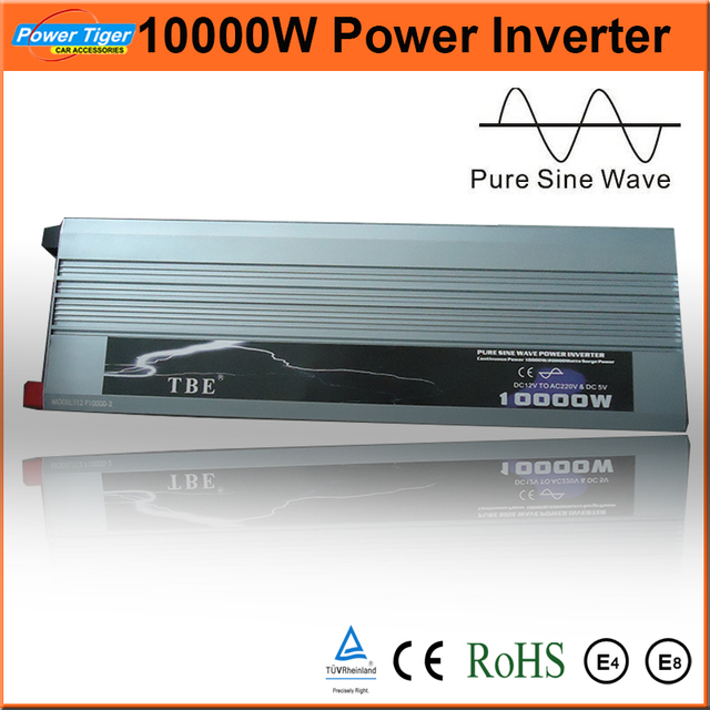 High Power Pure Sine Wave Power Inverter 10000w Car Boat Converter With USB DC 12V TO AC 220V (Peak Power 20000W) DHL Free