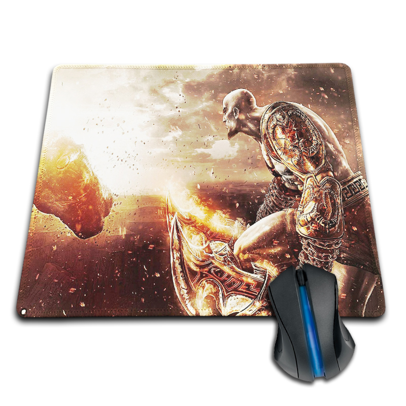 Babaite fashion style Cloth Rubber Optical Mousepad god of war with kratos Custom Design Mouse Pads Computer Gaming Mousemats
