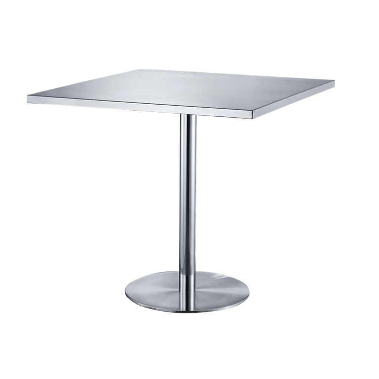 Simple Creative Stainless Steel Square Outdoor Dining Table Small Dining Cafe Restaurant Dining Table