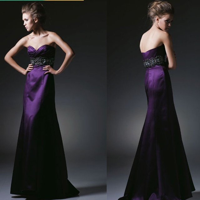 2015 Modern Sweetheart Strapless Sheath Promotion Price Women Long Party Prom Dresses Q125