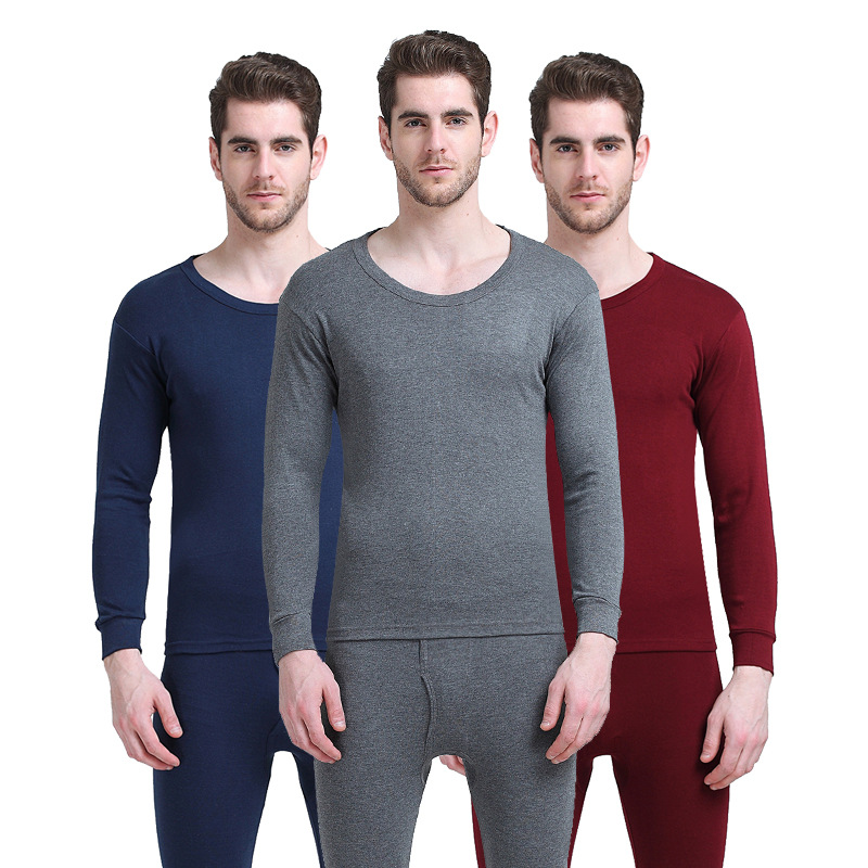 Mens 100/% Silk Thermal Warm Underwear Crew Neck Tops Long Johns Pants Pajama