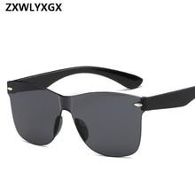 2018 New Transparent Sunglasses Women Vintage Colorful Retro Fashion Ri