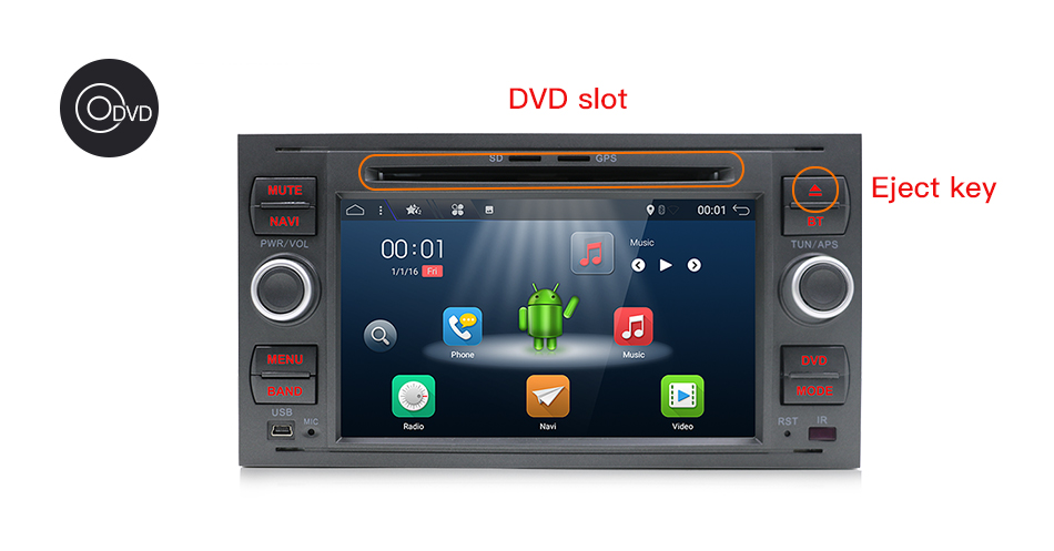Image 3 - Bosion Quad core Android 10 Car DVD 2 Din car stereo for Ford Mondeo C max focus galaxy S max fusion ranger Multimedia AutoaudioCar Multimedia Player   -