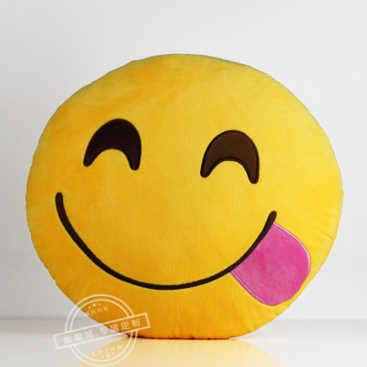 Neue soft emoji smiley Emoticon gelb runde kissen kissen plüsch ...