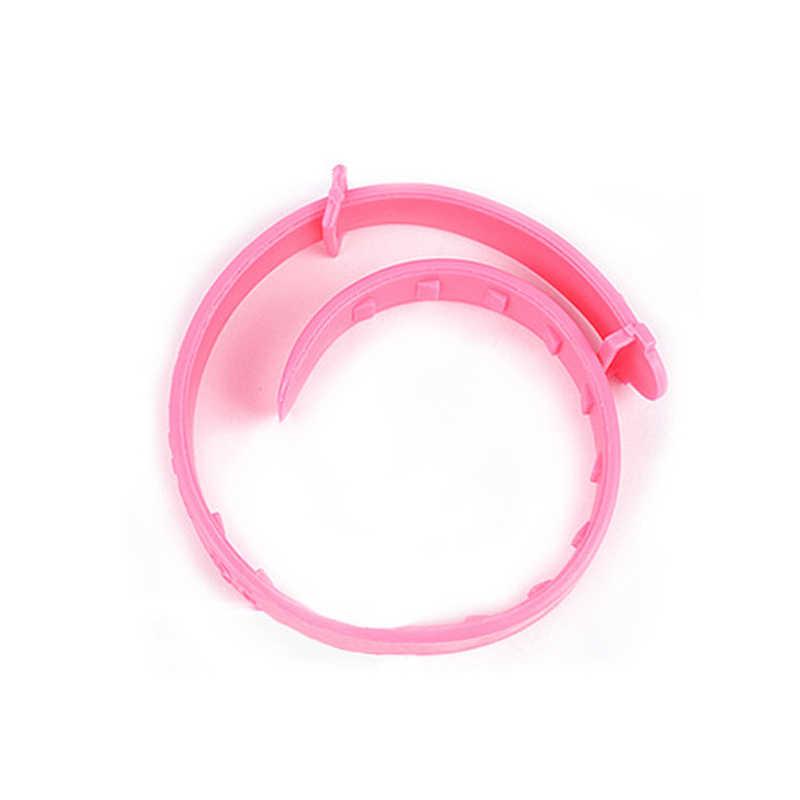 Coleira antimosquito para animais de estimação, coleira portátil anti-flea rosa compacta para atividades ao ar livre, acessório para animais de estimação