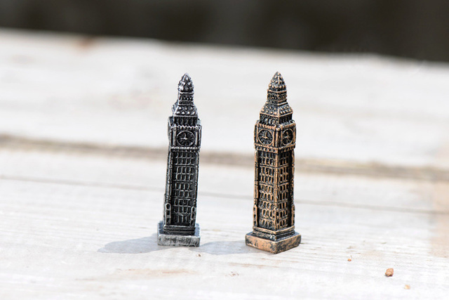 Big Ben Tower figures decorative mini fairy garden animal statue Home Desktop Gift Moss ornaments resin craft TNB070 4