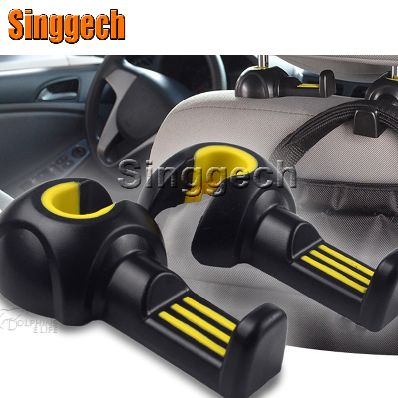 2pcs Car Styling Seat Pothook For Volkswagen VW Polo Passat B5 B6 CC GOLF 4 5 6 Touran Bora Peugeot 307 206 308 407 Accessories