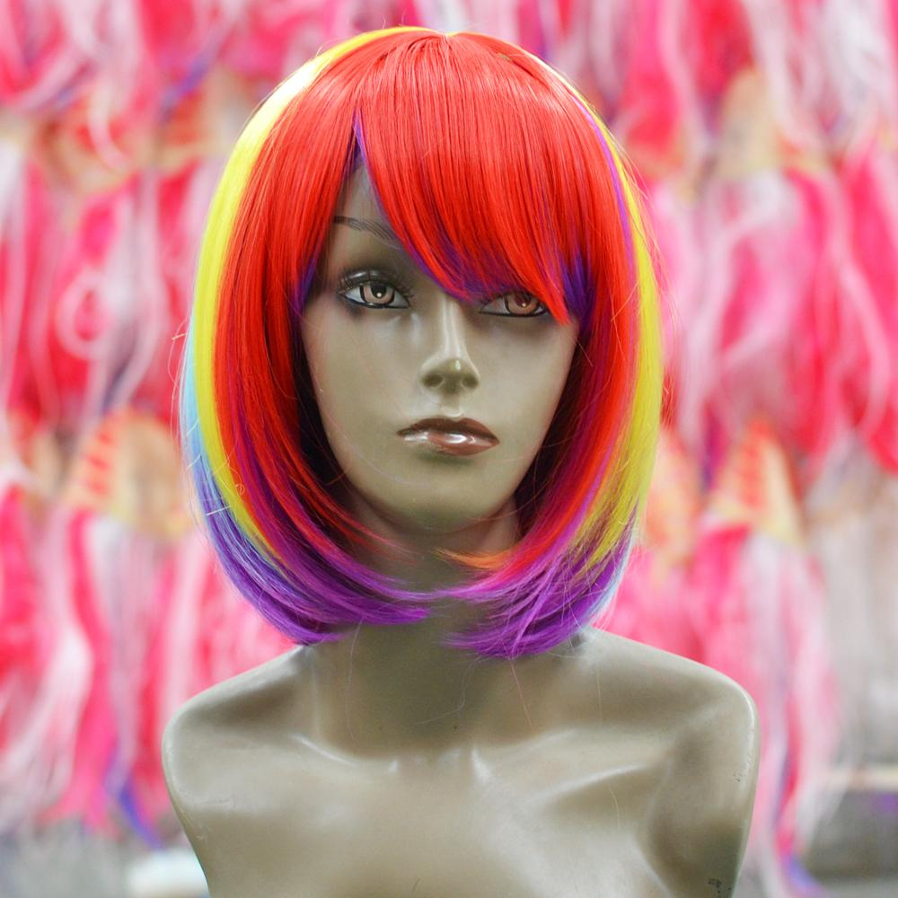 Aliexpress.com : Buy party city hair mix color Anime straight ...