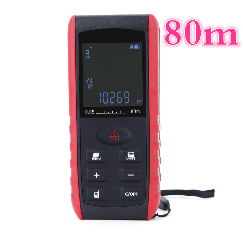 ФОТО by dhl/fedex 10pcs/lot 80m Digital Laser Distance Meter Handheld  Laser rangefinder Range Finder Area Volume Measurement