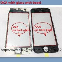 10 шт. OEM Переднее внешнее стекло с рамкой+ OCA для iphone 5 6 6plus 6s plus 7 7plus 8 plus X стекло+ рамка+ OCA ЖК-Запасная часть