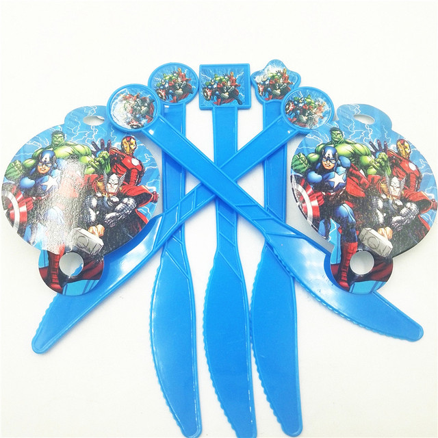 10pc Plastic knife Avengers Party Supplies Cartoon Theme Birthday