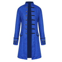 Vintage Mens Gothic Trench Coat Steampunk Men Cardigan Long Sleeve Mens Frock Coats Long Men's Jacket Overcoat Male Trenchcoat