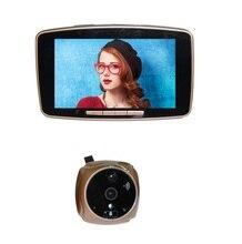 Дверь с камерой 2016 новый 5.0 дюймов кремния-осязаемый жк-ик ночного видения датчик движения SIM вызова MMS сигнализации глазок звонки