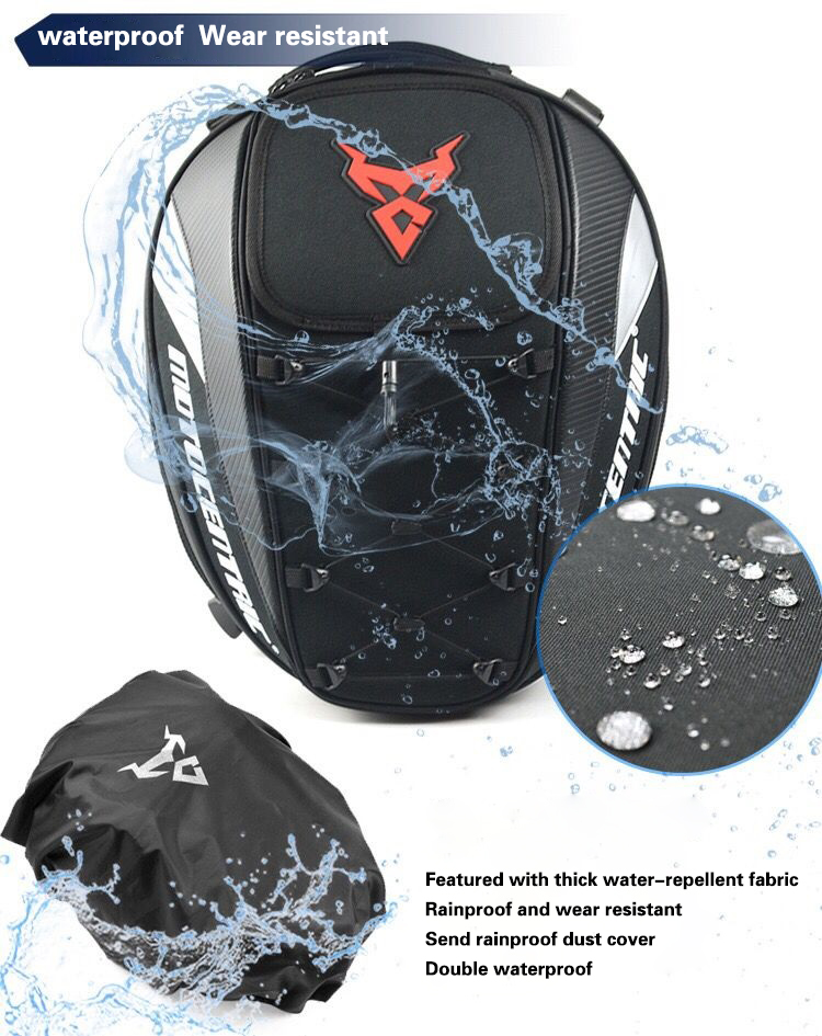 Brand New Waterproof Motorcycle Tail Bag Multifunction Motorcycle Rear Back Seat Bag High Capacity Motorcycle Rider Backpack 3