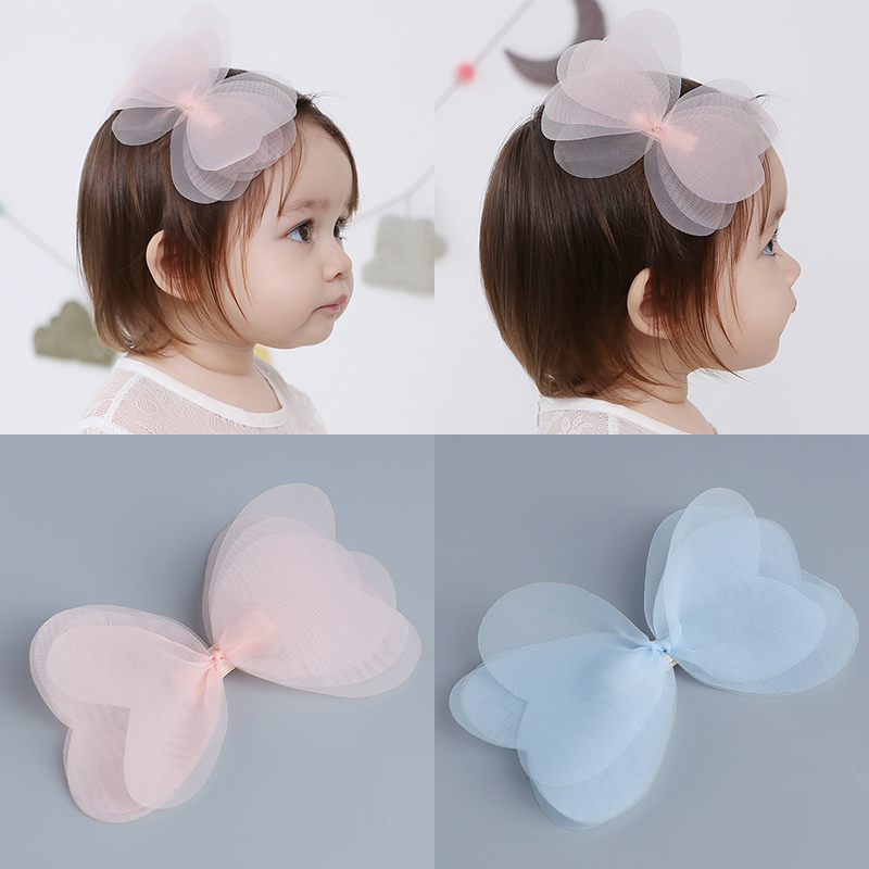 1 PCS New Korean Angela Cute Baby Girls Hairpins Cartoon Net Yarn Bowknot Clip Hair Clips Kids Children Accessories baby cute style children accessories hairpins rabbit fur ear kids girls barrette lovely hair clip