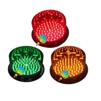 DC12V 200mm 8 inch traffic signal light lamp waterproof traffuc replacement red yellow green one pack on sale