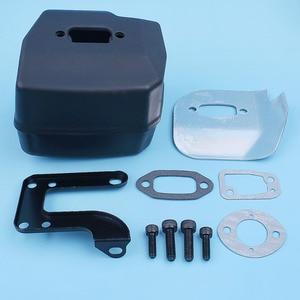 Image 4 - Muffler Exhaust Deflector Bracket Gasket Bolt Kit For Jonsered 625 II 630 Super 670 Champ Chainsaw Replacement Part