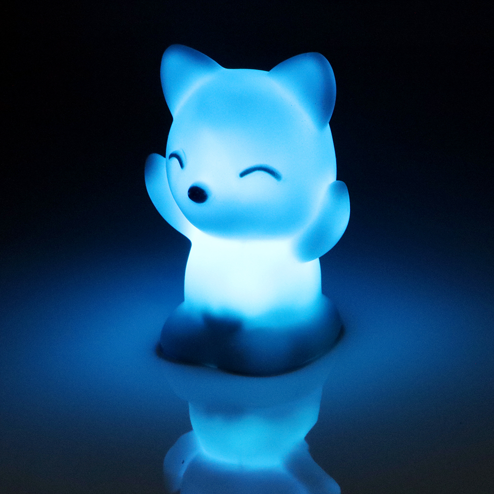 ITimo LED Night Light 7 Colors Changing Great Gift For Children Fox Shaped Bedroom Decoration Home Lighting Atmosphere Lamp creative tractor 3d visual lamp 7 colors changing acrylic car night light for children bedroom home xmas gifts desk lighting