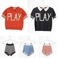 2017 novos calções camisa para meninos meninas crianças roupas de bebê bobo choses tee top polo-shirt calças de malha pré-venda