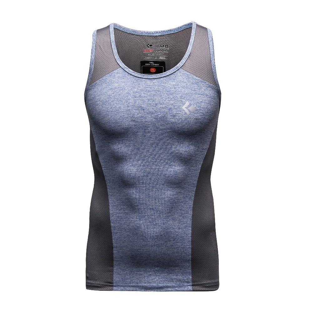 En Kaliteli Yeni Marka Erkek Vücut Geliştirme Ekipmanları Spor Stringer Yelek Seksi Yaz Mesh Spor Sıkı Gömlek Gym Crossfit Giysileri