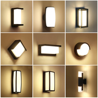 Outdoor Wall Lamp Waterproof LED Garden Lamp Aisle Corridor Outdoor Balcony Porch Light AC110V 220V Terrace Lamp