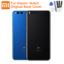 Original XiaoMi Glass Battery Rear Case For Xiaomi  Note 3 MI Note3 Phone Backshell Back Cover Cases