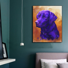 Laeacco Canvas Calligraphy Painting Graffiti Dog Wall Artwork Animal Posters and Prints Nordic Home Living Room Decoration