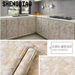 Image 5 - 3M/5M/10M waterproof pvc imitation marble pattern stickers self adhesive wallpaper window sill wardrobe cabinet table renovation