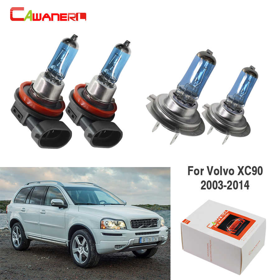 Cawanerl 4 X 100W Car Styling Halogen Lamp Headlight High Beam + Low Beam For Volvo XC90 2003-2014