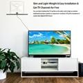 Plana HD TV HDTV Amplified Indoor TV Digital Antena de Alto Ganho 50 Miles Range Amplificador de Sinal DVB ISDB ATSC Destacável Plugue DA UE