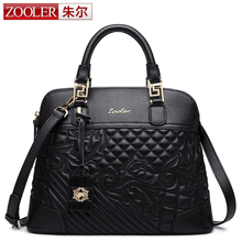 ZOOLER luxury women leather bag genuine leather bags top handle handbags women bags designer shoulder bag bolsa feminina#8155