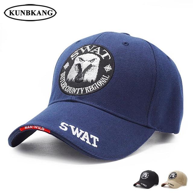30e903a90fa6f9 New Brand Tactical Caps Men Army Baseball Cap SWAT Eagle Snapback Dad Hat  Adjustable Outdoor Casual