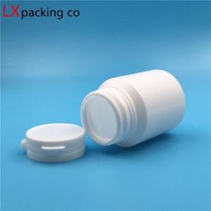 Image 3 - 50 sztuk darmowa wysyłka 30 60 100 ml biała plastikowa pusta butelka Pill proszek masło najwyższej klasy wielokrotnego napełniania opakowania przykręcana pokrywa pot