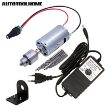 JT0 Chuck pour Mini perceuse électrique, jeu dmèches à main moteur 12 24V cc adaptateur dalimentation avec Terminal outils de perçage et de scie
