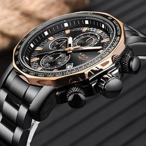 Image 2 - Relogio Masculino LIGE New Sport Chronograph Mens Watches Top Brand Luxury Full Steel Quartz Clock Waterproof Big Dial Watch Men