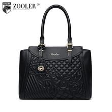 ZOOLER hochwertige frauen ledertasche luxus muster handtaschen frauen taschen designer luxus umhängetasche bolsa feminina #8158