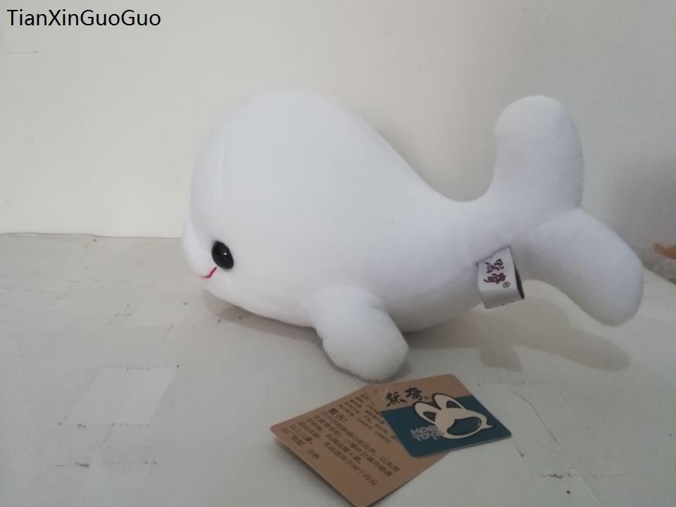 Большой 30 см белый мультфильм Дельфин плюшевые игрушки большая голова dophin Мягкая кукла подушка подарок на Новый год s2134