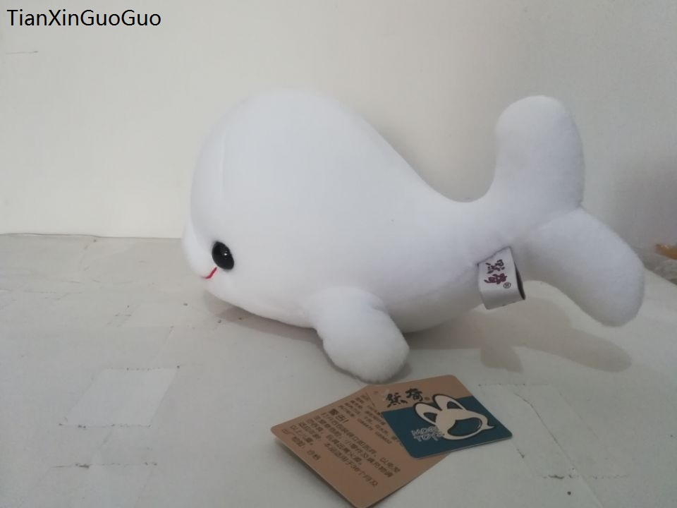 large 30cm white cartoon dolphin plush toy big head dophin soft doll pillow christmas gi ...