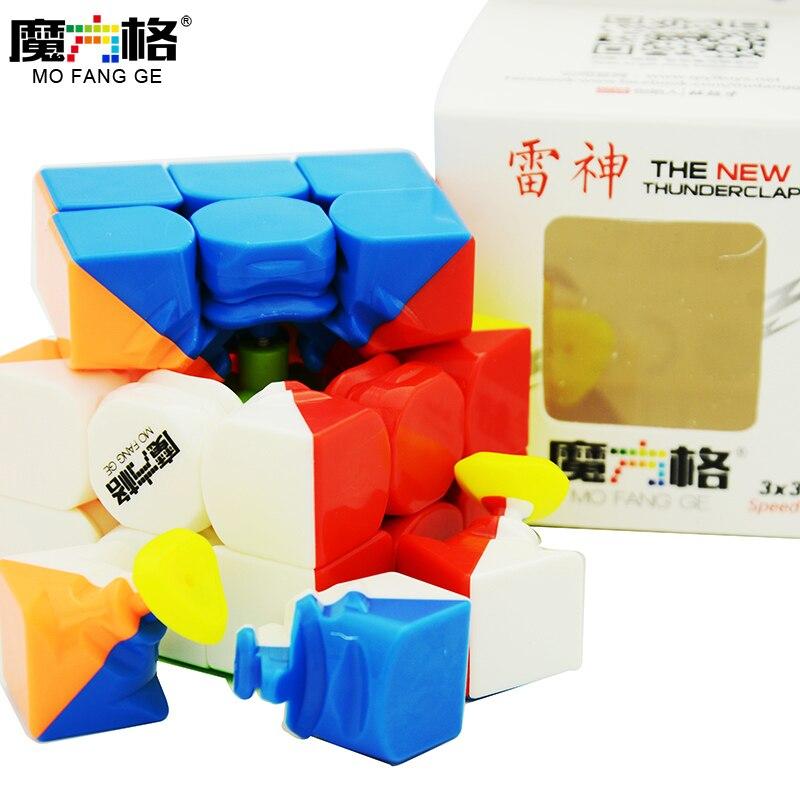 QiYi Thunderclap 3x3x3 negro 3 capa Mofangge Qiyi 5,7 cm 3 capa Thunderclap V2 Stickerless QiYi valk 3 negro cubo mágico