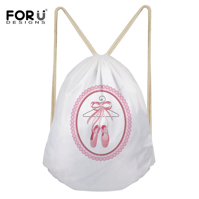 0ab96a8faf76 FORUDESIGNS Women Dust-proof Travel Drawstring Bag Cute Funny Printed Girls  Ballet Shoes Bags Ladies Travel Shoes Bag Organizer