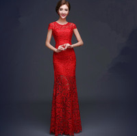 2018 Free shipping Lace O neck Party Gowns Formal Long Evening dresses vestido de festa longo robe de soiree abiti da sera TK628