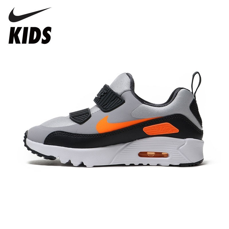 Nike Air Max Tiny 90 Air Cushion Shock Absorption Kids Sneakers Toddlers Outdoor Running Shoes 881927 summer breathable air cushion fly line sports women running shoes shock absorption increase tourism shoes spring female sneakers