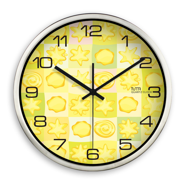 Metal Large Wall Clock Modern Home Design Reloj Pared Cocina Saaties ...