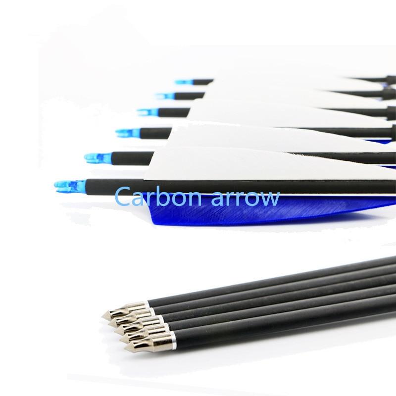 12PK flèche de carbone vraiment belles activités traditionnelles de tir à l'arc peuvent changer la chasse de tête