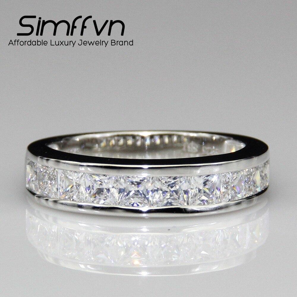 Ring For Women Simulated Diamond Ring For Men 9k White Gold Wedding Ring  Engagement Ring